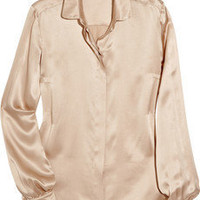 Stella McCartney | Washed silk-satin blouse | NET-A-PORTER.COM