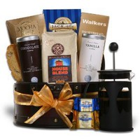 Coffee Bean 12oz Coffee With French Coffee Press Gift Basket