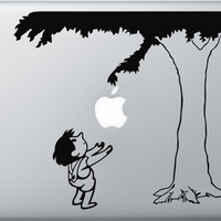 The Giving tree decal  for Apple Macbook Pro by allBLACKandWHITE