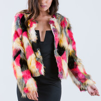 Faux Fur Sure Mixed Jacket