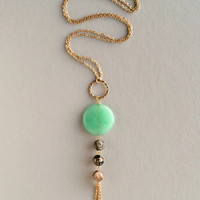 Mint Genuine Quartz Pendant Necklace - Default Title