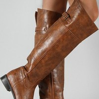 The Hampton Riding Boots: Tan - Lavish Boutique
