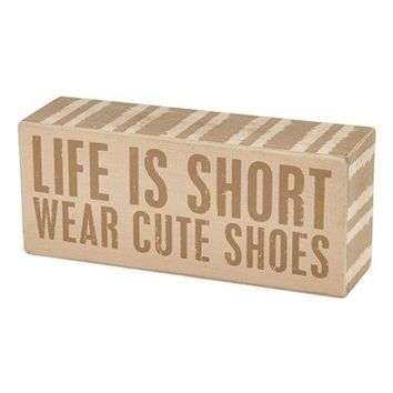 Primitives by Kathy 'Wear Cute Shoes' Box Sign | Nordstrom