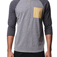On The Byas Jared Colorblock Baseball T-Shirt at PacSun.com