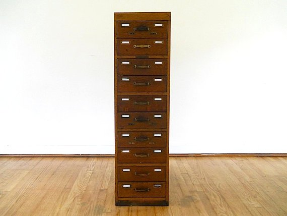 Library Card Catalogue Furniture From Thenewtonlabel On Etsy