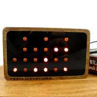 Binary Clock, 24-hour clock, choose your led color, black front, personalized clock