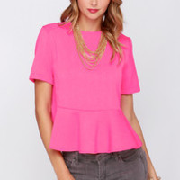 Glamorous Absolutely Vivid Neon Pink Top