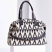 Ecote Woven Texture Weekender Bag- Black One