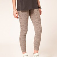 ASOS Legging in Distressed Fabric at asos.com
