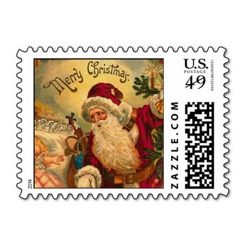 Postage with Vintage Santa Art