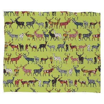 "DENY Designs Pistachio Spice Deer Throw (50""x60"")"