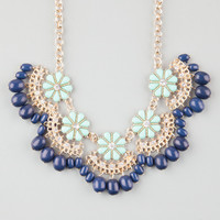 FULL TILT Daisy Scallop Fringe Necklace 251373523 | Necklaces