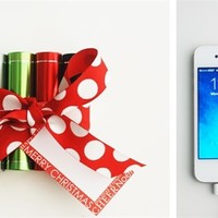 Stocking Stuffer-Portable Lipstick Style External Phone Charger