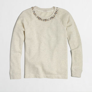 FACTORY NECKLACE SWEATSHIRT
