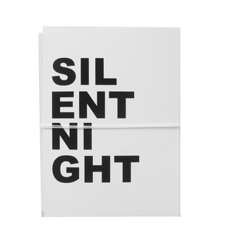 silent night note cards