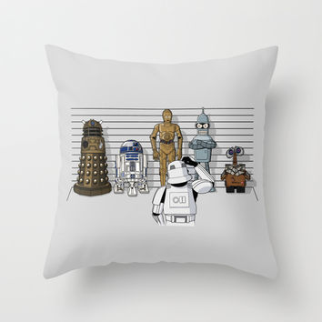 Star Wars Droid Lineup Throw Pillow by RebelArtCollective