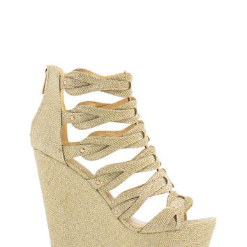 All That Glitters Platform Wedges