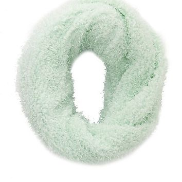 Fuzzy Infinity Scarf by Charlotte Russe - Mint