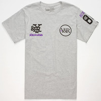 Young & Reckless Concrete Classic Mens T-Shirt Heather Grey  In Sizes