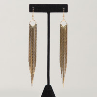 Golden Tassel Earrings - Gold / One