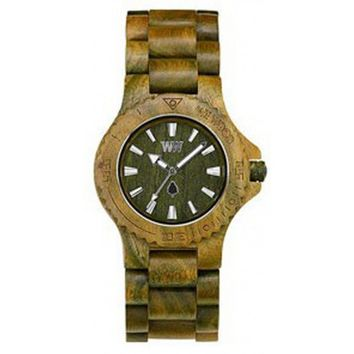 WeWood Date Army Wood Watch