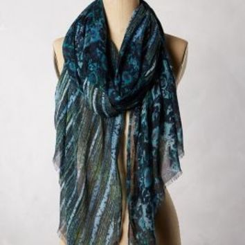 Woodlands Scarf by Anthropologie Green One Size Scarves