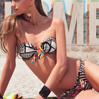 Agua Bendita 2012: Bendita Amazonas Two Piece Swimsuit Bandeau Bikini AF50582G1 | Swimwear Boutique