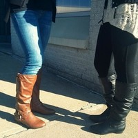 Brown Leather Knee High Boots | Steve Madden Craave Boot