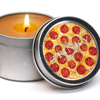 PIZZA SCENTED STINKY CANDLE