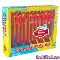 Swedish Fish Candy Canes: 12-Piece Box | CandyWarehouse.com Online Candy Store