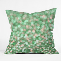 Lisa Argyropoulos Holiday Cheer Mint Throw Pillow