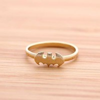 BAT ring in gold  by bythecoco on Zibbet