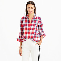 SHRUNKEN BOY SHIRT IN CERISE PLAID