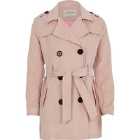 River Island Girls pink trench coat