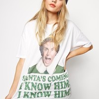 ASOS T-Shirt with Elf Christmas Print