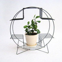 BackGarage: Design First, Second Hand ? Danish Modern Mid Century Iron Plant Stand