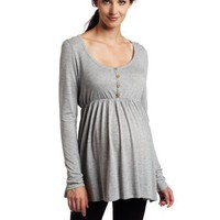 NOM Women`s Maternity Chloe Henley Shirt