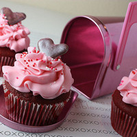 Love Letter Cupcakes | Cute Cupcakes | CutestFood.com
