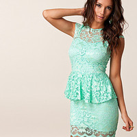 Lace peplum Dress, John Zack