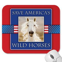 Save America's Wild Horses Mouse Pad from Zazzle.com