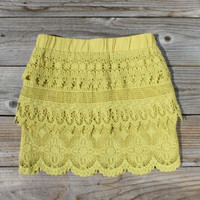Laced Canyon Skirt, Women's Sweet Bohemian Clothing