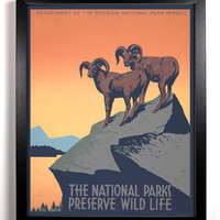 Preserve National Parks 1930s Americana Print,  8 x 10 Antique American Government Funded Programs Posters, Buy 2 get 1 FREE