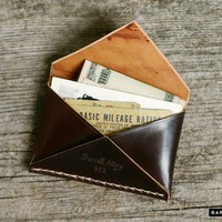 Leather Card Holder - The Shell Cordovan Disciple Wallet | Barrett Alley - Hand Made in USA.