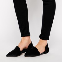 ALDO Nepean Black Pony Effect Two Part Flat Shoes at asos.com