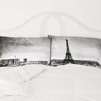 Paris Panorama White Pillowcase Set