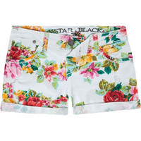 VANILLA STAR Floral Womens Denim Shorts 193376150 | Shorts | Tillys.com