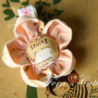 Fabric Flower Hair Clip - Pink Colo.. on Luulla