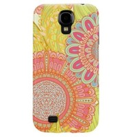 Colorful Sunflower Pattern Hard Case Cover for Samsung Galaxy S4