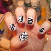 Exploring Crazy Manicure Trends  BLACK AND WHITE
