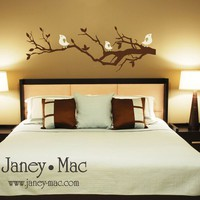 Vinyl Wall Art Snooty Birds on a Branch BT111 by janeymacpress